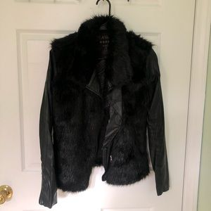 Blank NYC Faux Fur Leather Jacket Size S